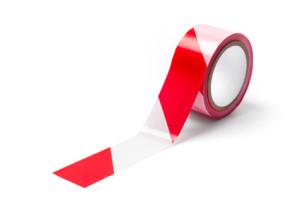 tasma ostrzegawcza samoprzylepna bialo czerwona