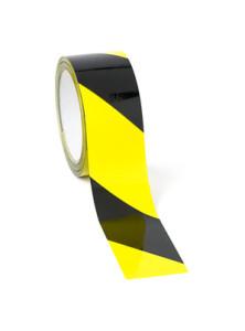 tasma ostrzegawcza samoprzylepna żółto czarna